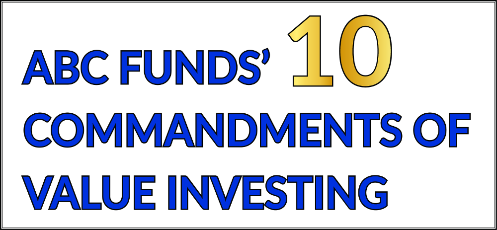 10 commandments of value investing
